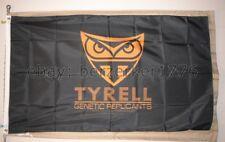 Tyrell Corp Blade Runner 3'x5' black & Yellow flag horizontal USA Seller Shipper