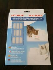 Cat / Dog Mate Replacement Filter Cartridges For Pet Water Fountains 6 Pack