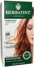 Herbatint Light Copper Blonde Hair Color 8R, Herbatint, 1 piece
