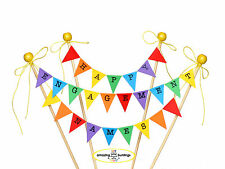 Personalised  Happy Engagement Rainbow Cake Bunting Topper,UK Made