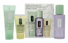 CLINIQUE 3-STEP SKINCARE GIFT SET 50ML LIQUID FACIAL SOAP DRY COMBINATION + 100M