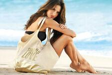 Victoria's Secret Canvas Large Shopping Beach bag New