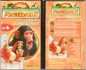 VHS - IL MAGICO MONDO DEGLI ANIMALI, ALLA SCOPERTA DELLE GRANDI SCIMMIE - DISNEY