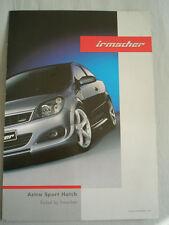 Vauxhall Astra Sport Hatch Opel Line Irmscher tuning brochure Jul 2005