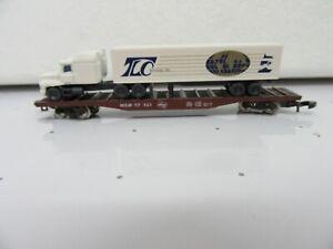 "Z - Marklin 82340 Heavy Duty Flat Car ""WILW RD#: 57121"" with Truck Load ""TLC"""