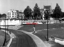 PHOTO  BELGIUM TRAMS 1959 BRUXELLES GROS TILLEUL SNCV S ON ROUTE S
