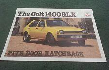 1979 COLT / MITSUBISHI MIRAGE 1400 GLX 5 DOOR HATCHBACK - UK FOLDER BROCHURE