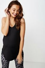 Cotton On Body Womens Maternity Training Tank Top  In  Black