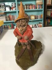 Tom Clark Gnomes Skiing Chase Ii Figurine Signed 1982 Cairn Signing Day 1994