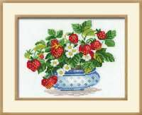 RIOLIS 870 Basket of strawberries Embroidery counted