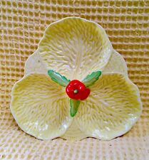 Midwinter Burslem Porcelon Triple Cabbage Leafsection Dish - Yellow