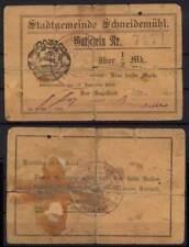 [12741] - NOTGELD SCHNEIDEMÜHL (heute: Pila), Stadt, 1/2 Mk, 15.11.1916. Tieste