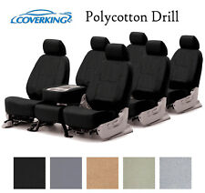 Coverking Custom Seat Covers Polycotton Drill 3 Row Set - 5 Color Options