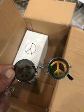 Novelty Sunglasses Hologram Peace Sign x100 bundle. All have irregular lenses!