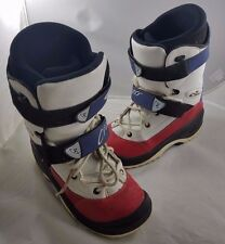 Mens Squib Oxygen O2 S Cross Snowboarding Boots Size 13.5 Italy Red White Blue