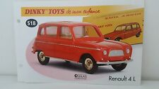Dinky Toys Atlas - Fascicule SEUL de Renault 4 L (Booklet only)