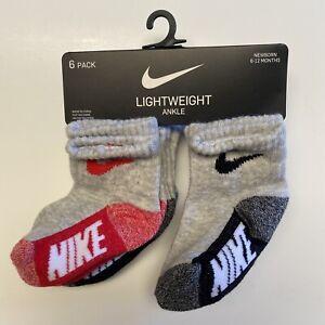 Nike Socks | Gray | Lightweight Ankle | 6 Pair | Infant | 1C | 6-12 Months