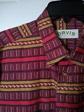 Mens Large ORVIS India Cotton Shirt Aztec Navajo Southwest Short Sleeve