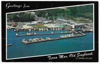 Postcard CT Old Saybrook Connecticut Greetings From Terra Mar Hotel & Boats! C14