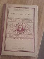 St Paul Felix Mendelssohn - Oratorio  Novello Original Octavo Edition
