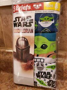 Star Wars The Mandalorian • Kids 3 briefs •  size 8 • Baby Yoda