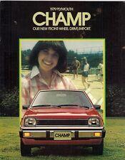 Plymouth Champ 1979 USA Market Sales Brochure Mitsubishi Colt Mirage