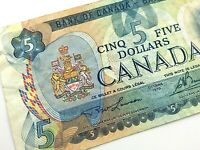 1979 Canada 5 Dollar 310 Replacement Circulated Lawson Bouey Banknote M831