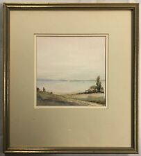 """Original Watercolour Painting by Maxwell Hall """"House by the Sea"""""""