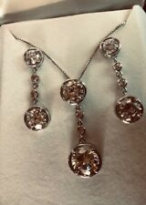 Ladies 3 Pc Simulated Diamond Necklace & Matching Earring Set!