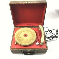 Vintage Portable Firestone Record Player No 4-A-144 Parts Repair Mid Century