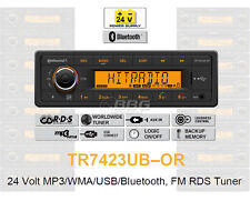 24 Volt Bluetooth LKW Radio RDS-Tuner MP3 WMA USB Truck & Bus 24V TR7423UB-OR