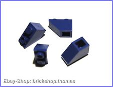 Lego 4 x Dachstein negativ blau (2 x 1) - 3665 - blue Slope inverted - NEU / NEW