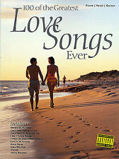 100 Greatest Love Songs Ever Learn to Play Pop PIANO Guitar PVG Music Book HITS