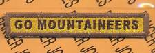 """197th Armored """"GO MOUNTAINEERS"""" TANK TAB patch"""