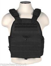 Vism Black Tactical Plate Carrier Vest Molle Operator Chest Assault Rig Med - L