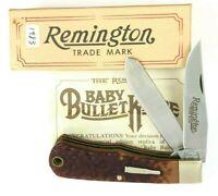 1983 Remington Trapper Knife Baby Bullet Shield Delrin R1173  + Box 5440-OQ