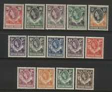 Northern Rhodesia 1953 QEII Values Set Mounted Mint