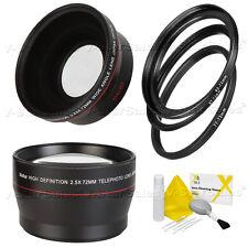 Vivitar 72mm Wide Angle & Telephoto Lens Kit for Canon EF-S 18-200mm Lens