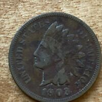 FREE SHIP! VG 1903 Indian Head Cent -118 Year Old Penny - Philadelphia Coin -L6