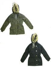 Manteaux, vestes et tenues de neige noir avec capuche pour fille de 2 à 16 ans Hiver