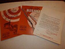 Gun Stocks By Bishop Ec & Son Vintage Catalog 633 & 632 & Dealer Letter