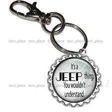 It's A Jeep Thing Jeep Lover Bottle Cap Key Chain Handcrafted Jewelry Gift Idea