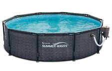 New listing Summer Waves 10ft x 30in Above Ground Frame Swimming Pool & Pump Ships Asap
