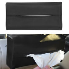 HR- KQ_ Faux Leather Tissue Paper Box Napkin Storage Case Holder Home Auto Car N