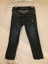 EXCELLENT AMERICAN EAGLE WOMENS  ARTIST STRETCH JEANS SIZE 2 REGULAR!
