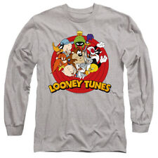 Looney Tunes Smaller Group Licensed Adult Men's Long Sleeve Tee Shirt Sm-3Xl