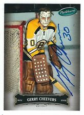 Autographed 2006-7 Parkhurst GERRY CHEEVERS Boston Bruins Card #33 w/Show Ticket