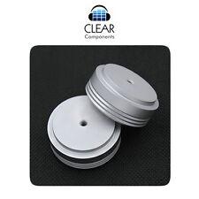 4x in alluminio dispositivi piedi 39x17 ARGENTO OPACO AMMORTIZZATORI damping CASE isolamento feet-HIFI