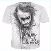 New Mens/Womens Batman The Joker DC Comics Superher 3D print casual T-shirt HK54