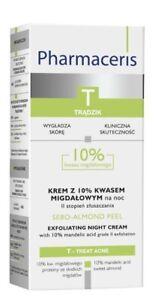 Pharmaceris T Cream Mandelic Acid Night Prone Acne Oily Skin Exfoliation 50ML